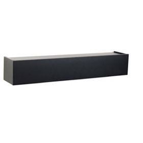 Black Hinged Wall Ledge, 24 in.