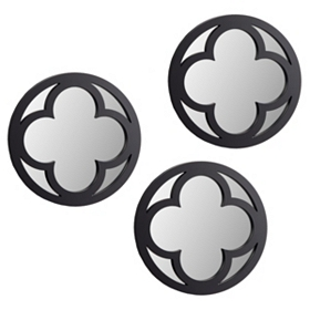 Espresso Clover Mirror, Set of 3