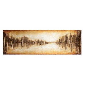 Cityscape Wood Wall Art