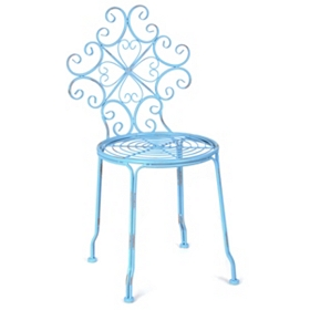 Corrina Blue Iron Side Chair