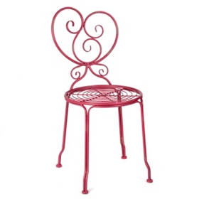 Kallista Red Iron Side Chair