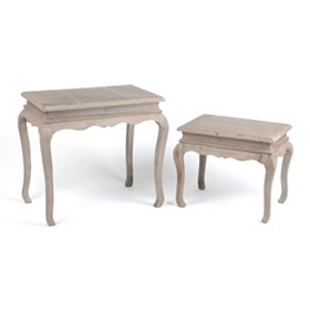Natural Wood Accent Table, Set of 2