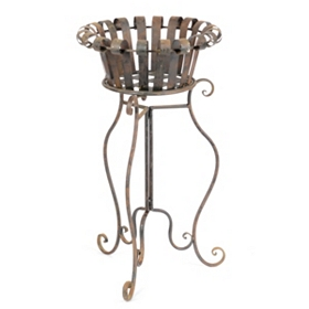 Rusted Planter Stand