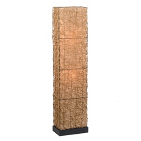 Wicker & Linen Floor Lamp