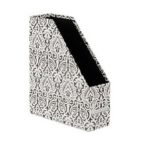 Black & White Damask Paper Organizer