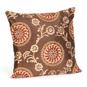 Suzani Chocolate Floral Pillow