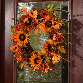 Harvest Sunflower Wreath