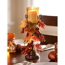 Harvest Leaf Candle Holder, 15 in.
