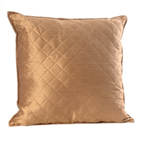 Taupe Quilted Diamond Pillow