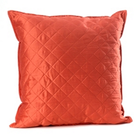Spice Orange Quilted Diamond Pillow