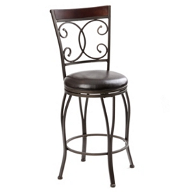 Metal Scroll Bar Stool, 25 in.
