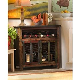 Elise Wood Wine Cabinet