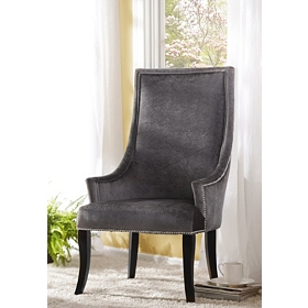 Gray Velvet Chatham Arm Chair