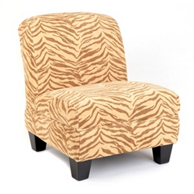 Zebra Print Slipper Chair