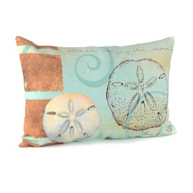 Colorful Sand Dollar Outdoor Pillow