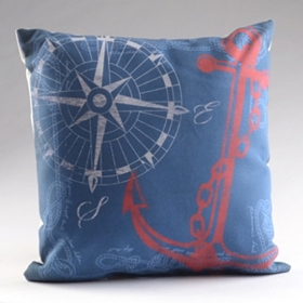 Anchors Away Reversible Pillow