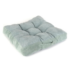 Light Blue Plush Floor Cushion