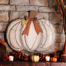 Wooden Pumpkin Plaque