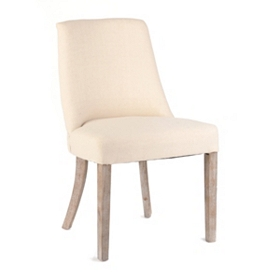 Vintage Beige French Dining Chair