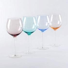 Colors of Spring Red Wine Glass, Set of 4