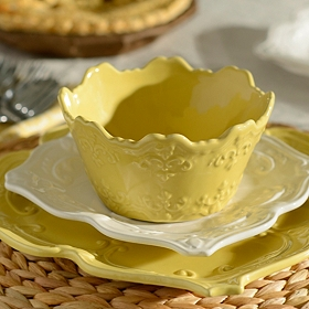 Yellow Sweet Olive Cereal Bowl