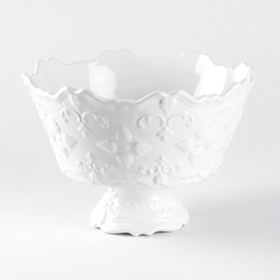 White Sweet Olive Serving Bowl