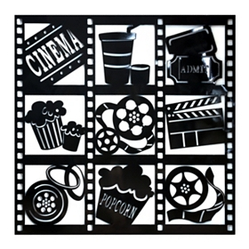 Movie Media Silhouette Wall Plaque