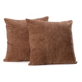 Chocolate Brown Perry Mineral Pillow, Set of 2