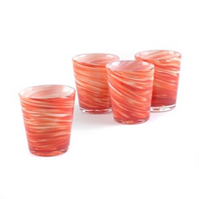 Twirlin' Red Rocks Glass, Set of 4