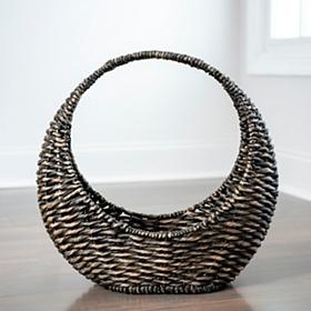 Woven Crescent Basket
