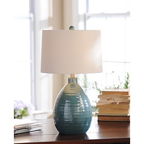 Giselle Blue Ceramic Table Lamp