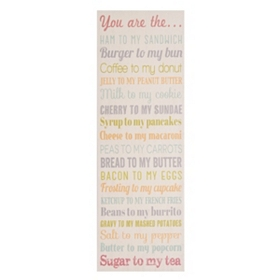 You Are The... Canvas Wall Plaque