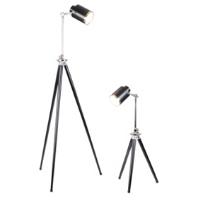 Spotlight Black Table & Floor Lamp Set