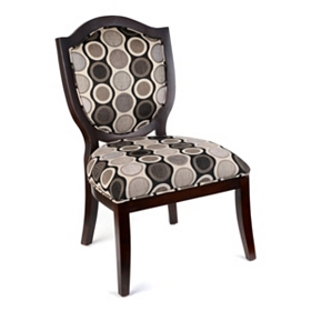 Elise Black & Gray Accent Chair