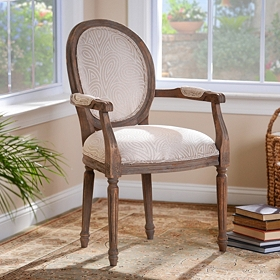 Vincent Ivory Paisley Arm Chair