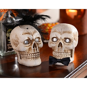 Mr. & Mrs. Skulls, Set of 2