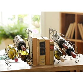 Jameson Bookend Wine Rack, Set of 2