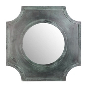 Sarai Wood Wall Mirror, 31x31