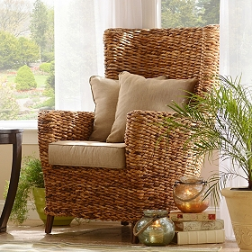 Tamayo High Back Wicker Arm Chair