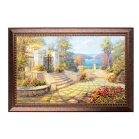 Sunlit Villa Framed Art Print