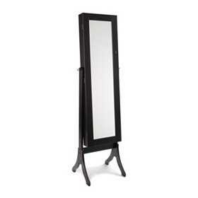 Black Cheval Jewelry Armoire Mirror