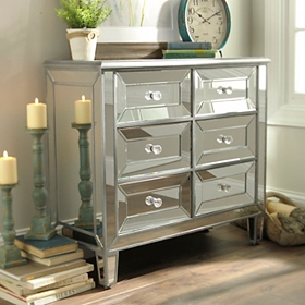 Silver Mirrored Chest
