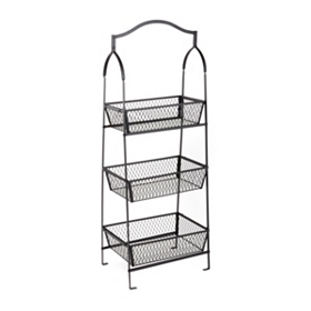 Triple Tier Basket Floor Rack