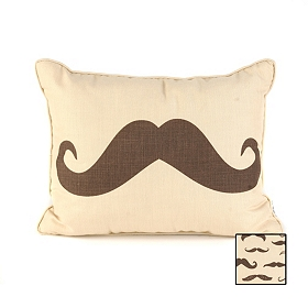 Reversible Mustache Pillow