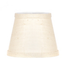 White Burlap Chandelier Shade