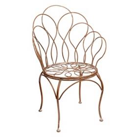 Antique White Rust Garden Chair