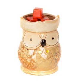 Glazed Owl Wax Warmer