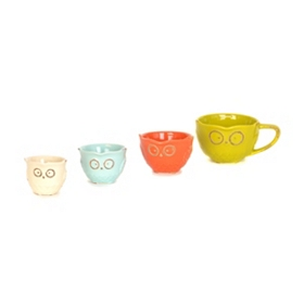 Ceramic Owl Measuring Cup, Set of 4