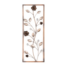 Rose Luster Framed Wall Panel