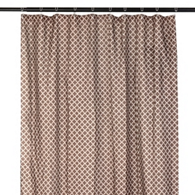 Chocolate Brown Quatrefoil Print Shower Curtain
